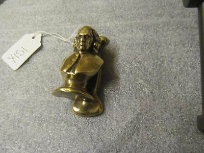 Early Brass Door Knocker Poss Oliver Cromnwell?   -Y151-