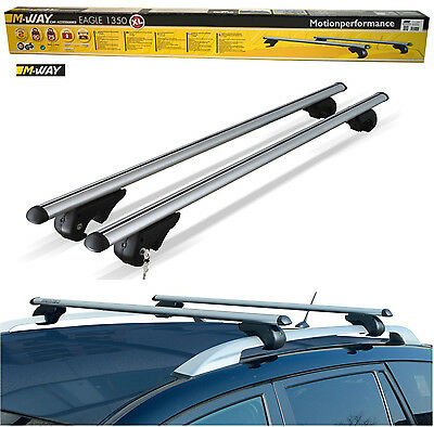 M-Way 135cm Lockable Aluminium Car Roof Rack Rail Bars for Toyota Rav 4 (2013>)