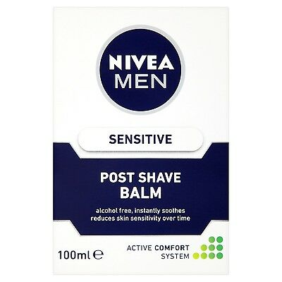 Nivea Men Sensitive Aftershave Balm 100 ml - Pack of 3 Nivea for Men