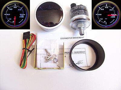 RSR Benzindruck Anzeige SET 52mm Stepper Smoke Geber Messer 16V G60 RS VR6 Turbo