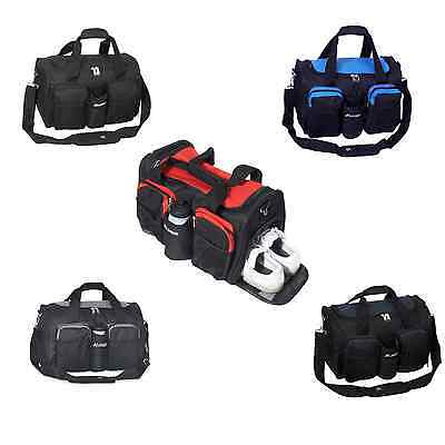 Everest Gym Bag Sport Travel Wet Pocket Shoe Work out All Purpose Duffle NEW