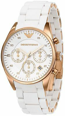 New Emporio Armani Ar5920 White Ladies Watch - 2 Years Warranty - Certificate