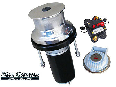 """316 Stainless Steel Marine Vertical Capstan - 12V 900W - Rope up to 7/8"""""""