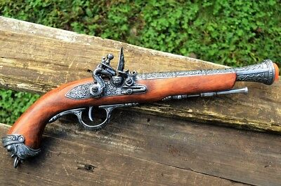 18th Century English Flintlock Blunderbuss Pistol - Pirate - Denix Replica