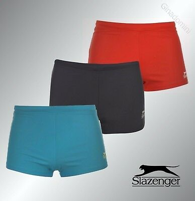 Mens Branded Slazenger Stretchy Fabric Swimming Boxers Swim Trunks Size S-XXL