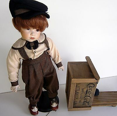 """Franklin Mint Heirloom """"Danny"""" w/ Coca Cola Scooter Doll"""