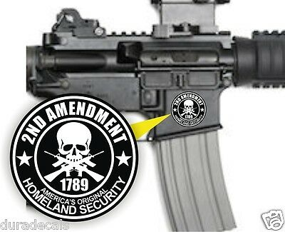 (3) AR15 Lower Decals | 2nd Amendment Stickers | Homeland Security Labels USA
