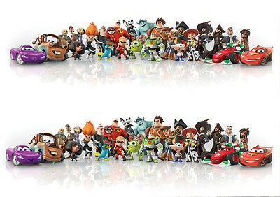 Stickers Autocollant Poster A4 Film Disney Mix Perso Mac Queen Toy Story Cars .