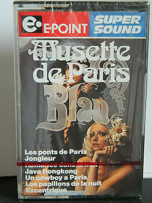 E-POINT MUSETTE DE PARIS Blau (Jongleur,Les ponts de Paris,etc.) NEU OVP MC Tape