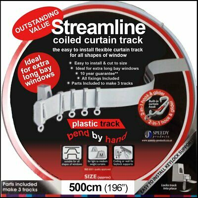 5 mtr Bendable Straight & Bay Window Curtain Track Rail