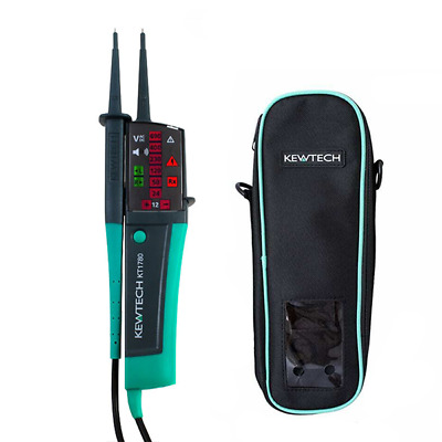 Kewtech KT1780 LED 2 Pole Voltage & Continuity Tester & KEWC1 Carry Case