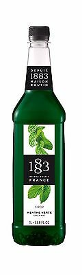 Routin 1883 Coffee Syrup GREEN MINT ~ 1 Ltr ~ Add to crushed ice and soda!