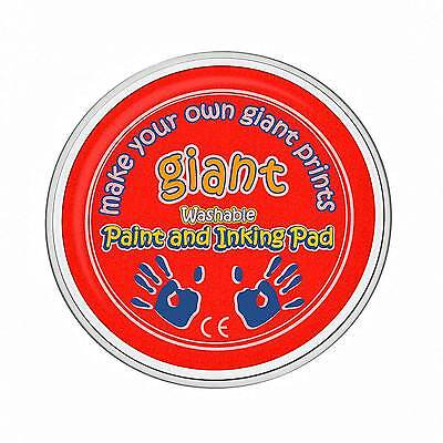 Giant Red Paint Pad (15cm) - Hand, Palm, Printing, Stamping, Arts & Crafts