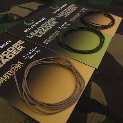 Gardner Tackle Ready Tied Leadcore 3 Colour 3 lengths Leader Carp Coarse Fishing