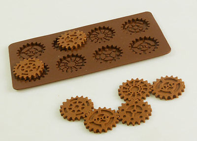 Steampunk Steam Punk Silicone Bakeware Chocolate Candy Mould Cake Decorating Pan