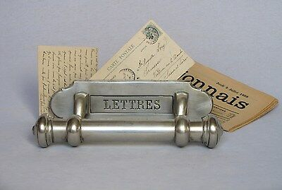 Magnificent EARLY 1900s ANTIQUE DOOR LETTER SLOT with LARGE HANDLE