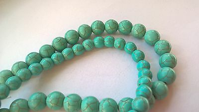 Turquoise  beads.8-10mm in diam
