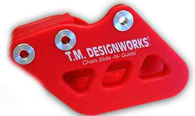 TM Designworks Factory Edition 1 Chain Guide Red RCG-SMX-RD