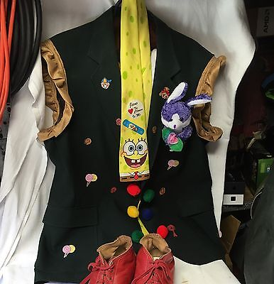 theater/ circus/ burlesque / clown costume, Extra Large Jacket Shorts Tie & Sock