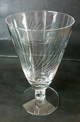 "Fostoria ""pine"" 6 1/8"" Iced Tea Glass/goblet(S) - Stem #6052/cut #835"