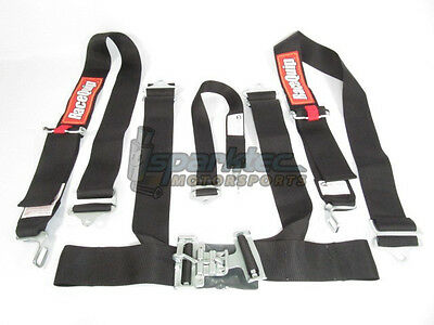 RaceQuip Racing Seat Belt Safety Harness Black 3-Inch 5-Point Latch & Link SFI