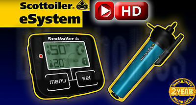Scottoiler eSystem automatic motorcycle chain oiler VIDEO AND MOST INFO IN AD!!