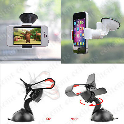 360° Rotating Car Windshield Mount Holder Stand for Mobile Cell Phone iPhone GPS