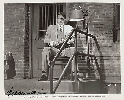 Gregory Peck Signed 10X8 Photo, Great Studio Film Image, Looks Great Framed