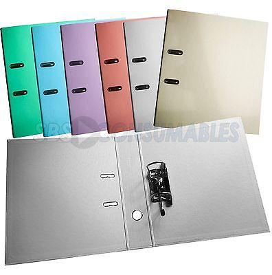 1 X A4 EXACOMPTA LEVER ARCH FILE 70mm DEPTH PASTEL COLOURS
