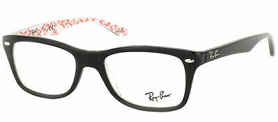 Ray Ban Eyeglasses RX5228 5014 Black On Red Texture Plastic Frame 50mm