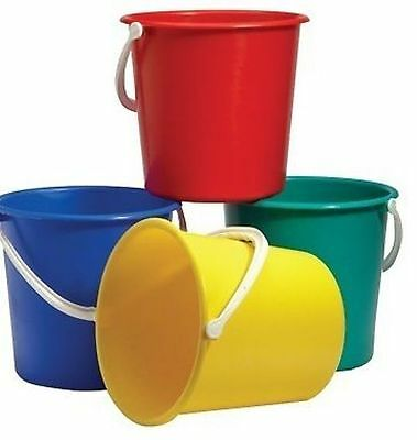 Coloured Plastic Bucket 9Ltr, Cheap Cleaning Supplies, Industrial