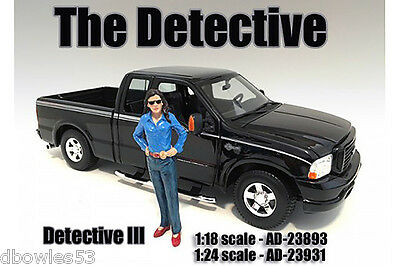 DETECTIVE III  by AMERICAN DIORAMA in 1:18 scale #23893