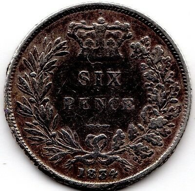 1834 6d Silver SIXPENCE six pence King William IV (a)