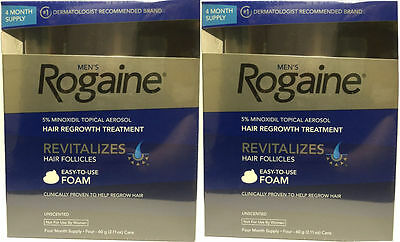 8 Month Supply Men's Rogaine Unscented Foam 5% Minoxidil Hair Regrowth Treatment