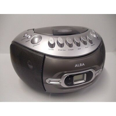 Alba Portable CD Boombox With Radio and Cassette Player