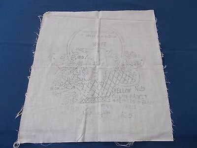 Vintage Stamped Punchneedle Punch Needle Cloth Pattern For Pillow CAT Flowers