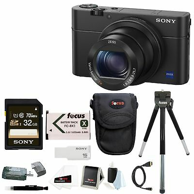 Sony Cyber-shot DSC-RX100 IV Digital Camera with 32GB SD Card + Accessory Bundle