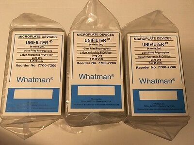 Case of 15 Whatman 7701-7206 Microplate Devices Unifilter 96 Well 2mL 0.45um