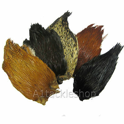 Veniard Indian Cock Cape Feathers for Fly Tying and Craft