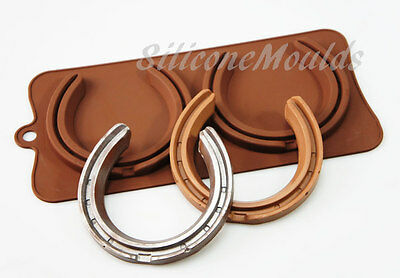 Chocolate HORSE SHOE Horseshoe Silicone Mould Cake Decorating Farrier Soap Resin