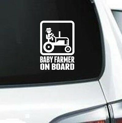A253 Baby On Board Foot Print  vinyl decal car truck suv wall laptop