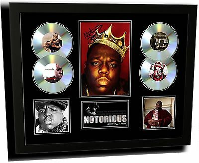 Notorious Biggie Smalls Signed Limited Edition Framed Memorabilia