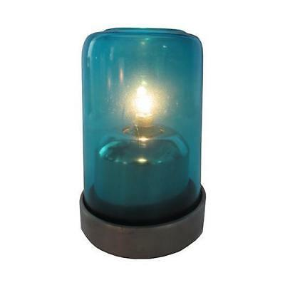 20x Oil Table Lamp / Light  'Aurora - Blue', Restaurant - Safer than a Candle