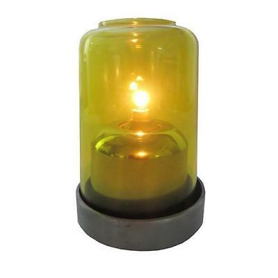 10x Oil Table Lamp / Light  'Aurora -Yellow', Restaurant - Safer than a Candle