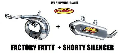 Fmf Factory Fatty Pipe + Shorty Silencer Full Exhaust 03-04 Honda Cr250R Cr250