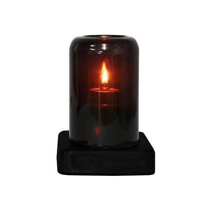 10x Oil Table Lamp / Light  'Stella - Black', Restaurant - Safer than a Candle