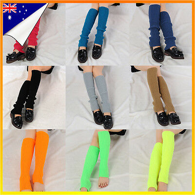 Womens Dance Crochet Knit Winter Leg Warmers Legging Socks Disco Party Costume