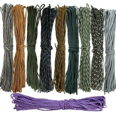 20-300Ft 550 Paracord Parachute Cord Lanyard Mil Spec Type III 7 Strand Rope