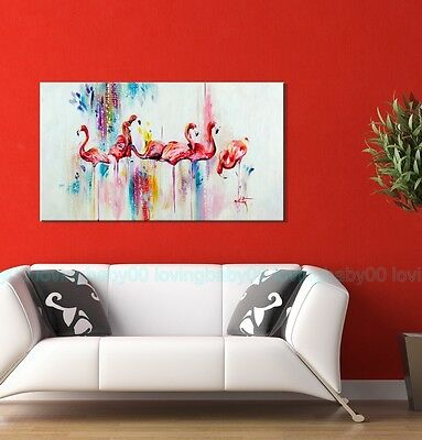 50X90X3cm Flamingo Dance Framed Stretched Canvas Print Wall Art DIY Modern Decor