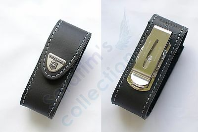 Victorinox Pouch 91/93 mm, 4.0520.31 Swiss Army Folding Knife Black Leather